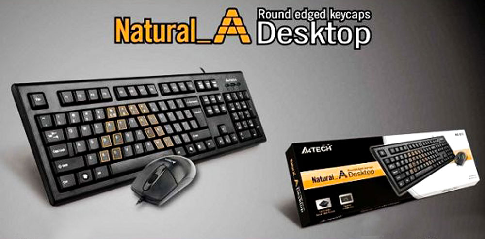 A4TECH KRS-8572 Wired mouse and keyboard