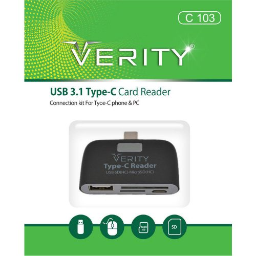 Verity C 103 Type-C Card Reader