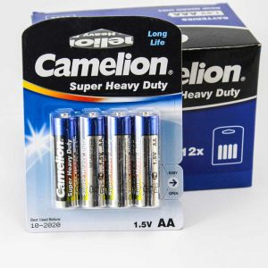 پک 12*4 باتری قلمی Camelion Super Heavy Duty R6P AA