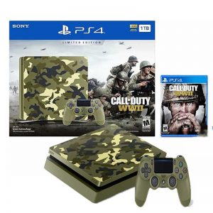 کنسول بازی Sony Playstation 4 Slim 2017 Region 2 CUH-2116B 1TB + گارانتی و بازی Call of Duty WW2