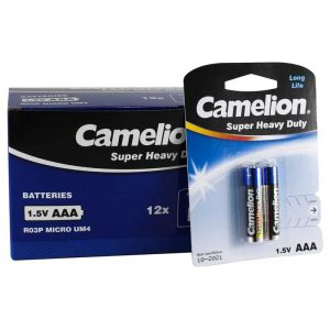 پک 12*2 باتری نیم قلمی Camelion Super Heavy Duty R03P AAA