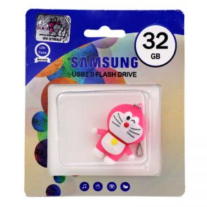 فلش عروسکی SAMSUNG Doraemon Cat 1008 32GB صورتی