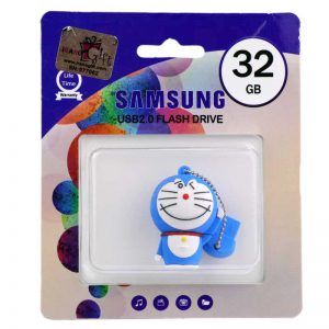 فلش عروسکی SAMSUNG Doraemon Cat 1010 32GB آبی کم رنگ