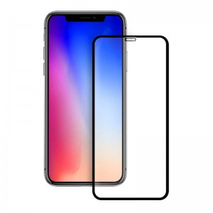 گلس تمام چسب iPhone X/XS full cover مشکی