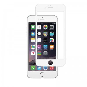 گلس تمام چسب آیفون iPhone 6 Plus سفید