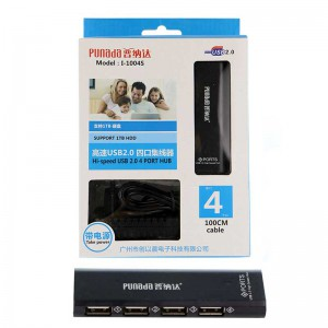 هابPunada I-1004S USB2.0 4Port + آداپتور