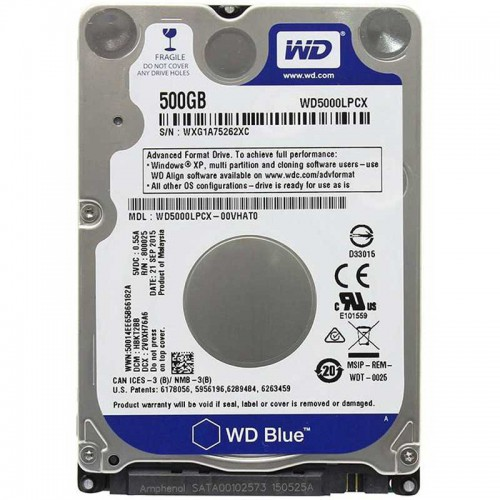 هارد نوت بوک Western Digital WD5000LPCX 500GB
