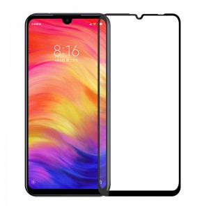 گلس تمام چسب Xiaomi Redmi Note 7 مشکی