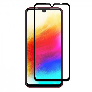 گلس تمام چسب Xiaomi Redmi Note7 مشکی