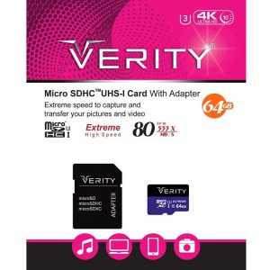 رم وریتی Verity Micro U3 80MB/S 64GB