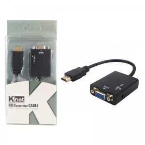 تبدیل K-net HDMI to VGA پک دار