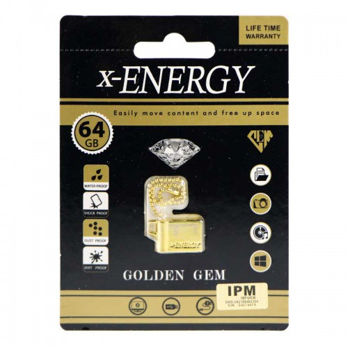 فلش X-Energy Golden GEM 64GB