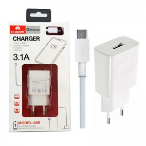 Huawei A80 charger + MicroUSB cable