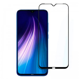 گلس تمام چسب Xiaomi Redmi Note 8 مشکی
