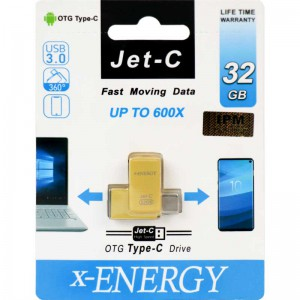 فلش X-Energy Jet-C 32GB OTG Type-C USB3.0