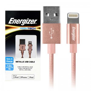 کابل کنفی آیفونی Energizer Hightech C13UBLIGPK4 1.2m