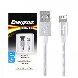 کابل کنفی آیفونی Energizer Hightech C13UBLIGSL4 1.2m
