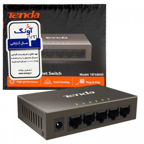 سوییچ 5 پورت Tenda TEF1005D 5Port Desktop Switch