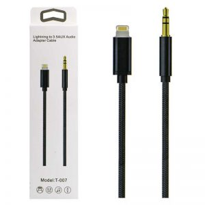 کابل کنفی تبدیل T-007 Lightning to 3.5mm AUX