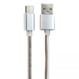 کابل فست شارژ USB Data Cable Type-C 3.1A 1m تمام فلزی