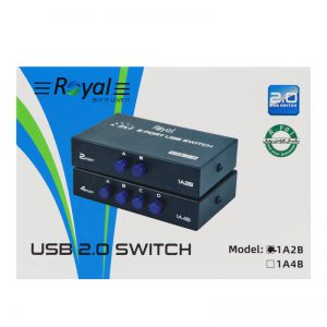 سوییچ پرینتر Royal 1A2B USB Switch 2Port