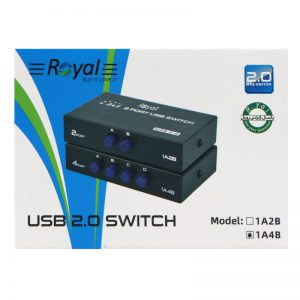 سوییچ پرینتر Royal 1A4B USB Switch 4Port